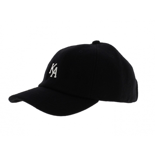 Casquette Letterman Curved Peak Noir  - KING APPAREL