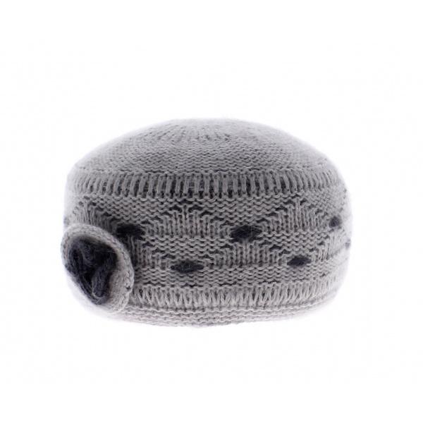 Bonnet tricot angora Ariane-Angora Gris