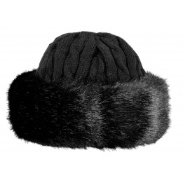 Cable Faux Fur Cap - Black - Barts