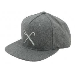 Flat Cap Snapback Hard Graft Grey Wool King Apparel