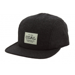 Strapback The Richmond Grey Wool Cap - Coal