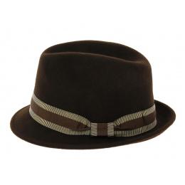 Chapeau trilby Jazzy Feutre laine marron - Aussie Apparel