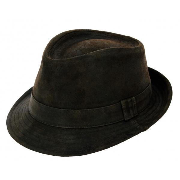 Trilby hat leather par Traclet d0624e5a5d9