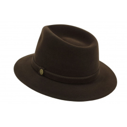 Traveller l'Uomo Felt Hat Brown Hair - Guerra 1855