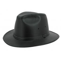 Chapeau Traveller Black Smooth Cuir Noir - Henschel