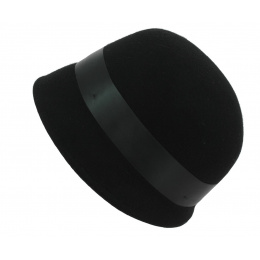 Chapeau cloche - Bulles feutre laine