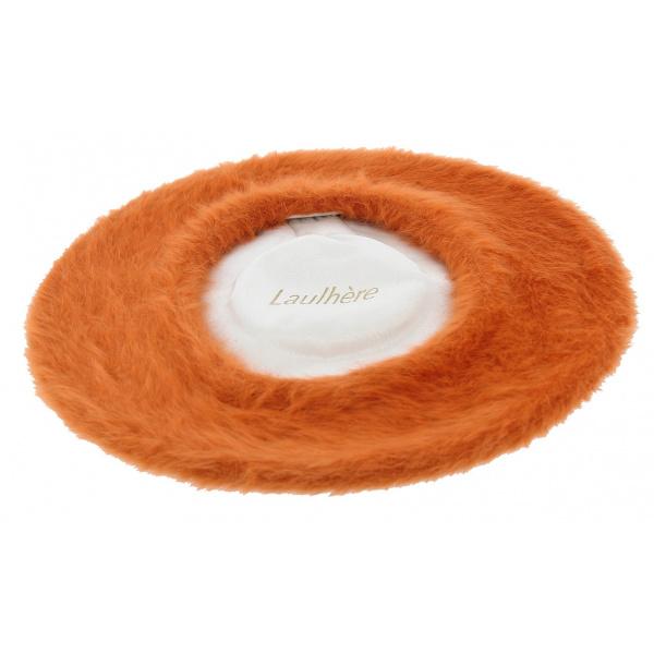 Béret Angora Orange Aurillac - Héritage par Laulhère