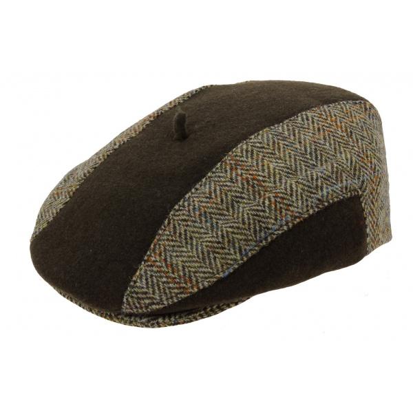 Casquette Plate Harry Tweed Marron - Laulhère