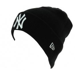 Bonnet Mixte Essential Cuff Acrylique Noir - New Era