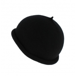 Bonnet Marin Reefer Cuff Laine Noir Traclet
