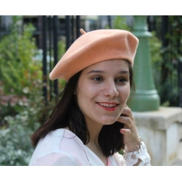 The Classic Peach French Beret- Le Béret Français