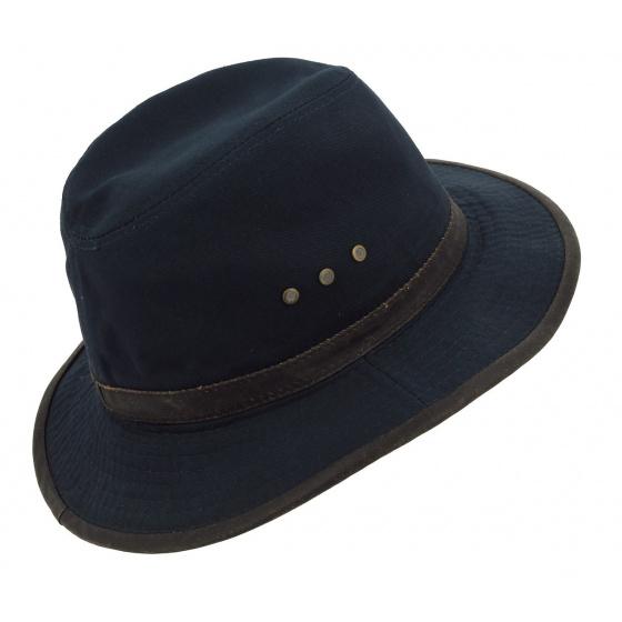 Traveller Hat Ava Ruston Navy Cotton Hat - Stetson