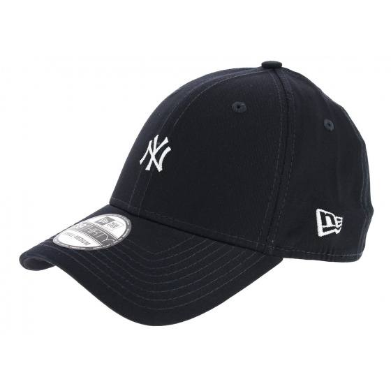 Casquette Fitted Yankees Mini Logo Coton Marine - New Era