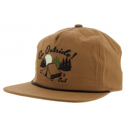 Strapback Cap The Great Outdoors Cotton Camel - Coal