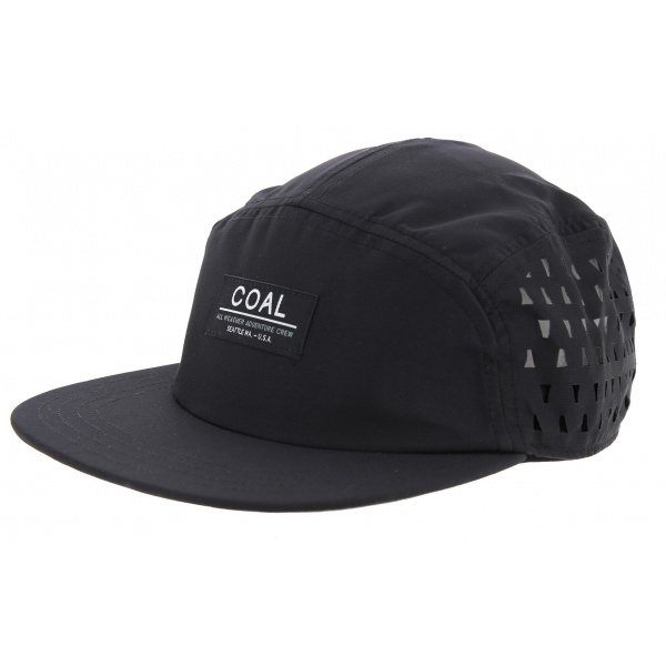 Strapback Cap 5 Panels The Peace Polyester Black - Coal