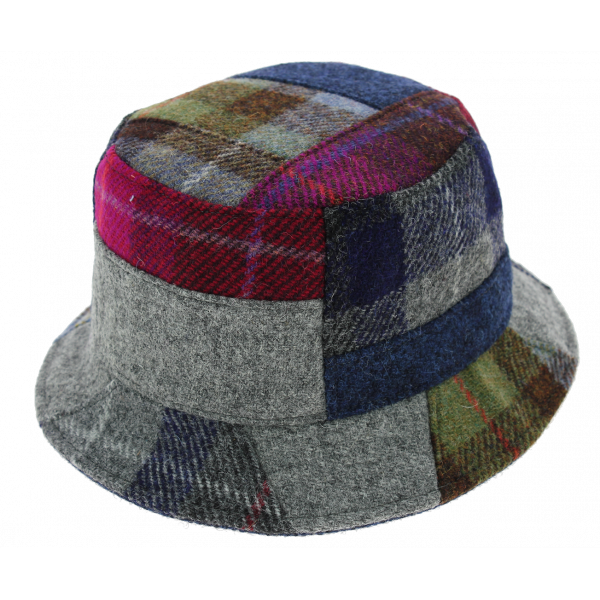 Chapeau Bob Banbridge Patchwork Harris Tweed - Traclet