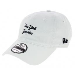 SunBleach White Cotton Strapback Cap - New Era