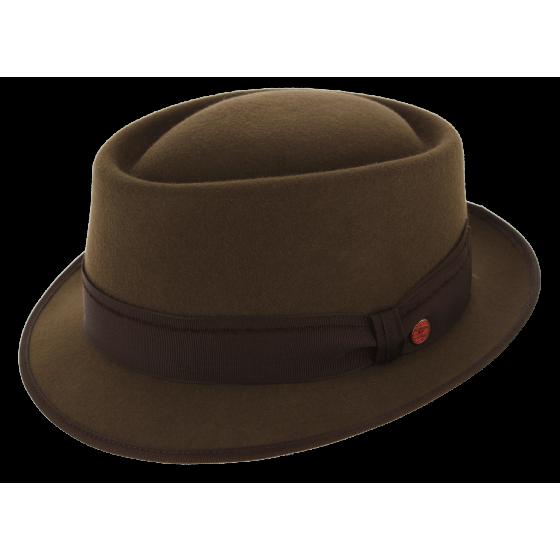 Trilby Rostock Brown Wool Felt Hat - Mayser