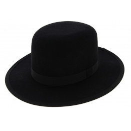 MiddleWest Black Wool Felt Hat - Traclet