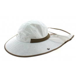 Beige High Protection Neck Cover-Up Hat - Soway