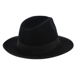 Chapeau feutre borsalino Vanzina Noir