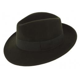 Fédora Raincoat Wool Felt Hat Vanador Olive - Traclet