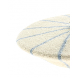 Beret enfant rayures bleu ciel  - le beret francais