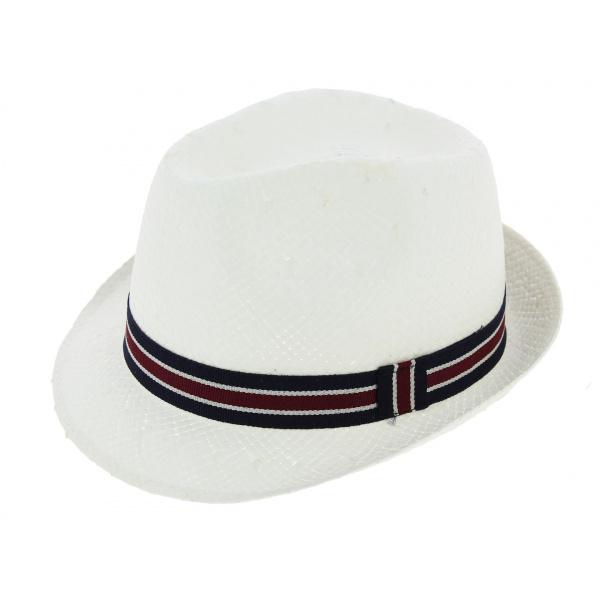 0c36929955128 Chapeau Enfant Carpinetto Paille Papier Blanc - Crambes