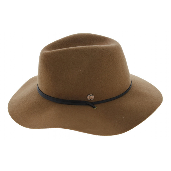 Chapeau Traveller The Lee Feutre Laine Marron - Coal