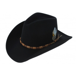 Cow Boy Hat - KEELINE Black