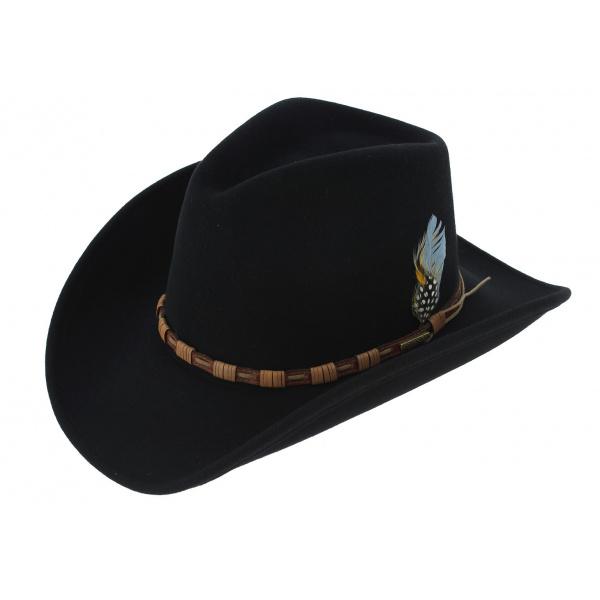 Cow Boy Hat - KEELINE Black