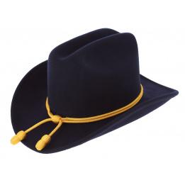 Chapeau Officier Confédéré Feutre Laine Marine - Wegener