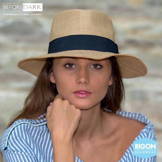Traveller Hat Signature Straw Raffia Natural - Rigon Headwear