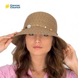 Chapeau Cloche Bohemian Chocolat - Rigon Headwear