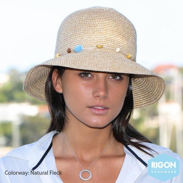 Chapeau Cloche Bohemian Naturel-Marron - Rigon Headwear