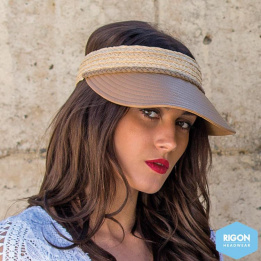 Visière Eden Raphia Naturel & Marron - Rigon Headwear