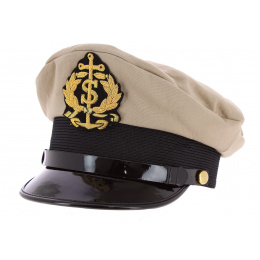 Casquette Marin Capitaine Sydney Coton Beige - Traclet