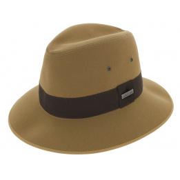 Chapeau Safari Tissu Coton Formé Beige - Broswell