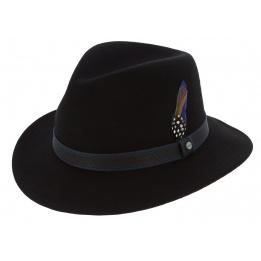Traveller Stone Black Wool Felt Hat - Stetson