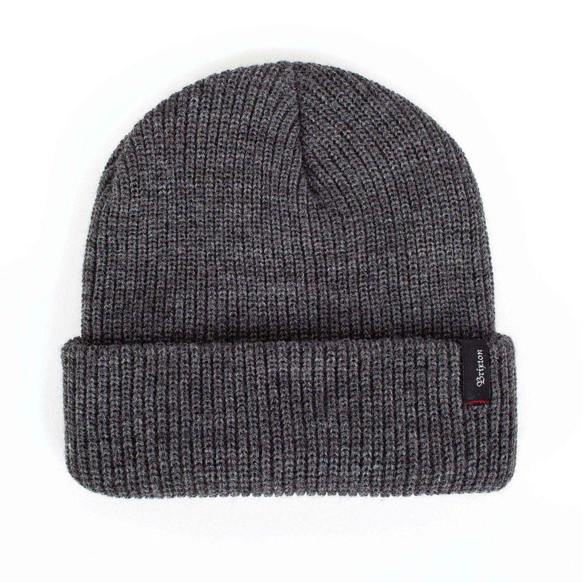 Pure cashmere plain tricot bonnet en gris anthracite