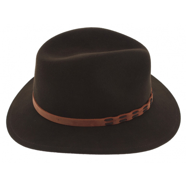 Traveller Thompson Brown Wool Felt Hat - Stetson