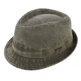Chapeau Trilby Durango Coton Délavé Kaki - Hatland