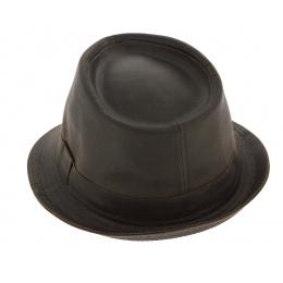 Brown Cotton Tycoon Trilby Hat - Aussie Apparel