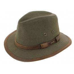 Traveller Hat Salford Cotton Olive- Hatland