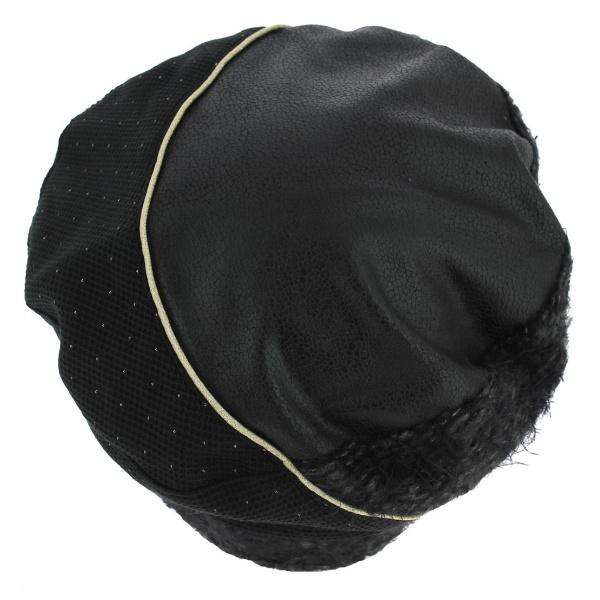 Béret Zlatna Coton Doublé Polaire Noir - Mtm
