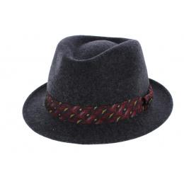 Chapeau feutre trilby - Anthracite