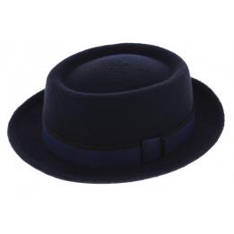 Chapeau PorkPie Mandai Feutre Laine Bleu - Mayser