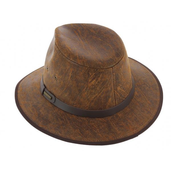 Mantoa leather stetson hat