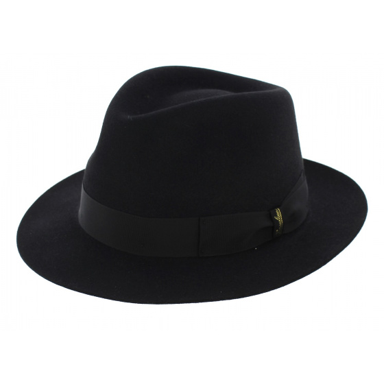 Chapeau Fedora Borsalino Classique Noir