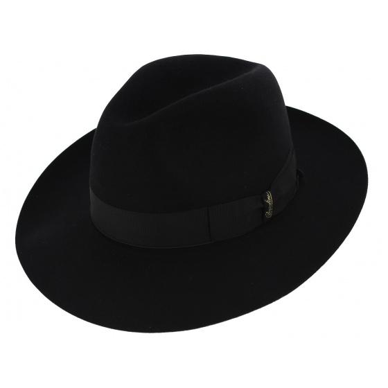 Chapeau Umberto Feutre Poil Noir - Borsalino
